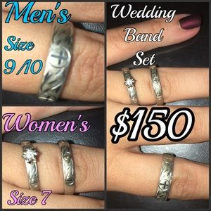 Complete Wedding band set (men and women)